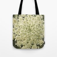 Botanical - Queen Anne's Lace, Bishops Lace Flower Tote Bag