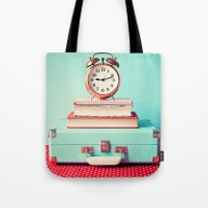 Tote Bag featuring Clock Is Ticking by AC Photography