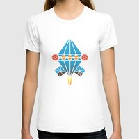 Spacecraft  Womens Fitted Tee White SMALL