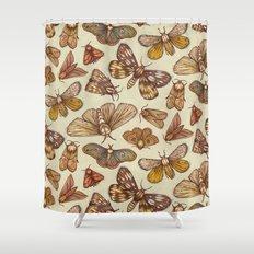 Moth Pattern Shower Curtain