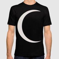 crescent moon Black SMALL Mens Fitted Tee