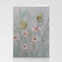 Butterfly Wishes and Flower Kisses Stationery Cards