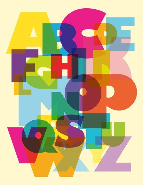 ABC in colour Art Print