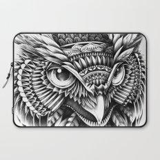 Ornate Owl Head Laptop Sleeve
