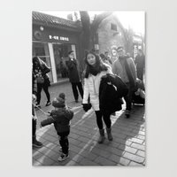Beijing street life Canvas Print