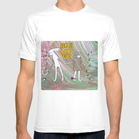Hug, Kiss, Touch Me Mens Fitted Tee White SMALL