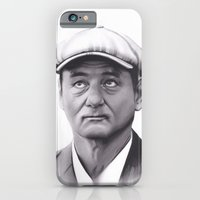 bill murray iPhone & iPod Cases featuring Drawing of Bill Murray by Brittni DeWeese