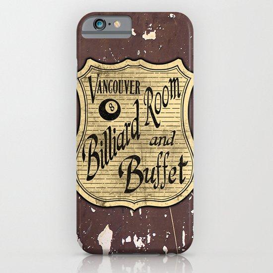 Vintage Vancouver Billiard Sign iPhone & iPod Case