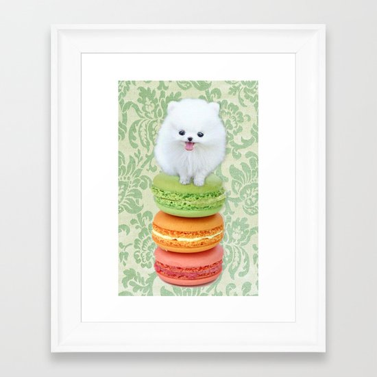 Mt. Macarone Framed Art Print
