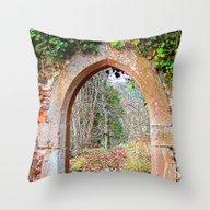Gate To Autumn Throw Pillow