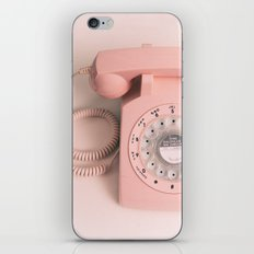 vintage PHONE pink iPhone & iPod Skin