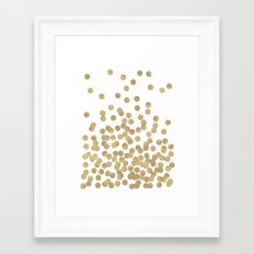 Gold Glitter Dots In Sca… Framed Art Print