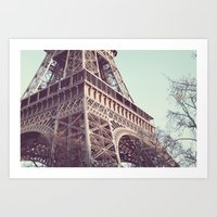 Daydreams At The Eiffel Art Print