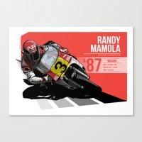 Randy Mamola - 1987 Misano Canvas Print