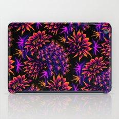 Cactus Floral - Bright Purple/Orange iPad Case