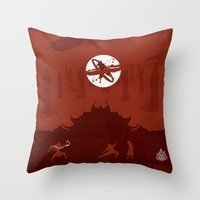 Avatar Book Fire - Version 2 Throw Pillow