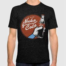 Nuka Cola Fallout drink Mens Fitted Tee Tri-Black SMALL