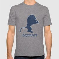 Original Detroit Lions Logo Mens Fitted Tee Tri-Grey SMALL