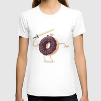 Baked to Rule Womens Fitted Tee White SMALL
