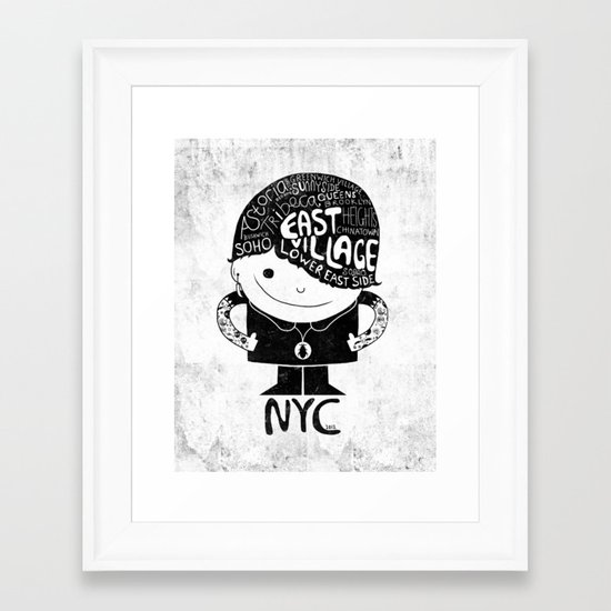 NYC Club Kid 2012 Framed Art Print