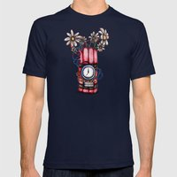 Daises & Dynamite  Mens Fitted Tee Navy SMALL