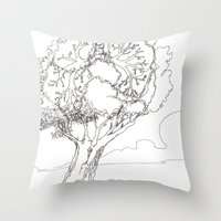 Let It Be Like Breathing Throw Pillow