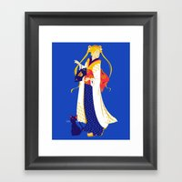 Geisha Moon Framed Art Print