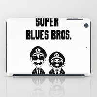 Super Blues Bros. (Black and White) iPad Case