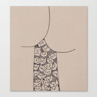 Things That Are Cute: Butts n Kitties Canvas Print