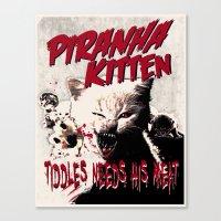 Pirahna Kitten Canvas Print