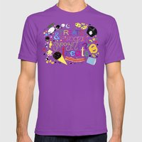 Treats And Snoozin'. Sno… Mens Fitted Tee Ultraviolet SMALL