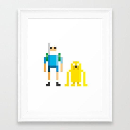 Finn & Jake Framed Art Print