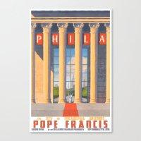 Philadelphia Welcomes Pope Francis Canvas Print