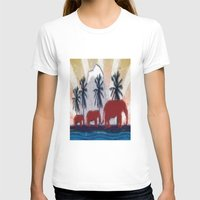 elephants T-shirts featuring Elephants by LoRo  Art & Pictures
