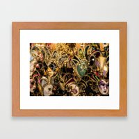 Venetian Masks Framed Art Print