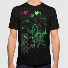 hearts and stars Mens Fitted Tee Tri-Black SMALL