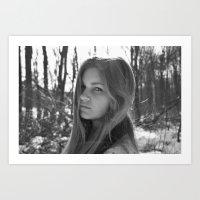White & Black Art Print