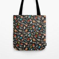 just birds dark Tote Bag