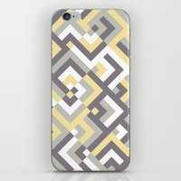 Yellow & Khaki iPhone & iPod Skin