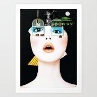 Crazy Woman - Marie Jane… Art Print