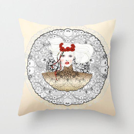 GOLDEN MARCH Throw Pillow