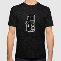 Rolleicord Mens Fitted Tee Tri-Black SMALL