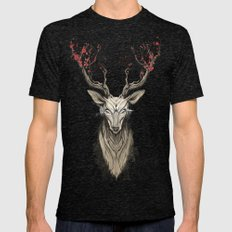 Deer tree Mens Fitted Tee Tri-Black SMALL
