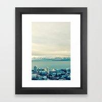 Blue Reykjavik - Iceland Framed Art Print