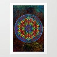 The Flower of Life (Sacred Geometry) 3 Art Print