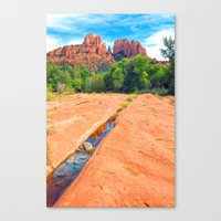 Excerpt From A Day At Re… Canvas Print
