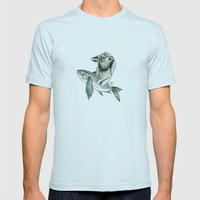 Rabbit & Rocketfish Mens Fitted Tee Light Blue SMALL