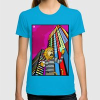 Untitled Womens Fitted Tee Teal SMALL