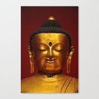 Golden Buddha - serenity - Asian Art Museum San Francisco Canvas Print
