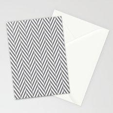 Grey Herringbone Stationery Cards